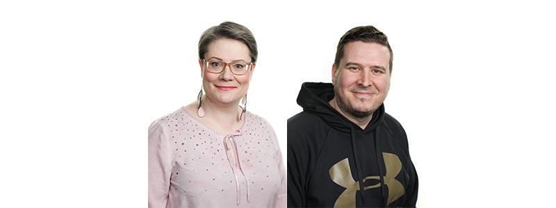 Esittelyssä Elisa Passiniemi ja Valtteri Aho