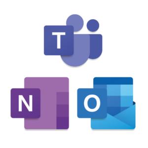 Teams Onenote Outlook logot