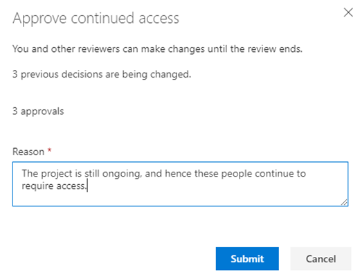 approval azure ad access reviews