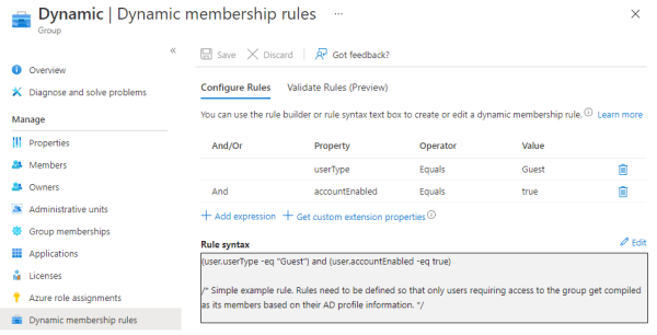 dynamic membership rules azure ad-access reviews