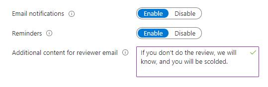 reminder azure ad access reviews