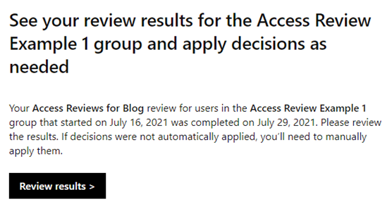 review results azure ad access reviews